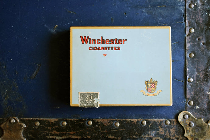 Winchester Cigarette Tin - Imperial Tobacco Company of Canada - Vintage Advertising Cigarettes Case