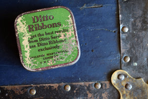Ditto Typewriter Ribbon Tin - Vintage Ink Spool Container - Made in England