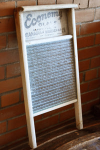 Economy Washboard - Wooden with Glass Grate - Manufactured in Canada - Canadian Woodenware Co.