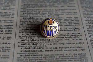 Edmonton Oilers Lapel Pin - 1990s - National Hockey League Sports Memorabilia - Vintage NHL Pins - Lot 2