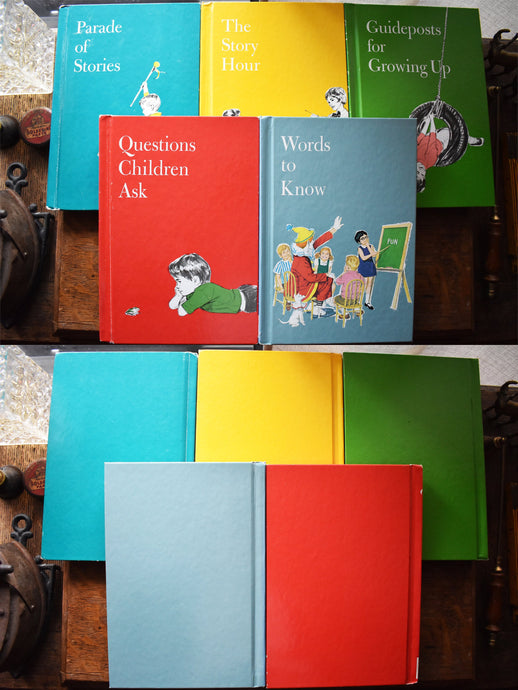Child's Horizons Childrens Books - Set of 5 Hardcover Books -  Standard Educational Corporation - Printed in the USA - 1980s