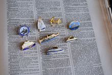 Load image into Gallery viewer, Vintage Ships and Boats Lapel Pins - Set of 8 Pins - Nautical Themed Pins - Made in Canada