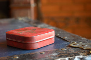 Caribonum Typewriter Ribbon Tin - Vintage Ink Spool Container - Red-Box - Caribonum Ltd. - Made in England
