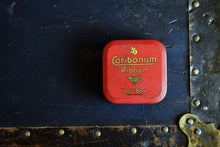 Load image into Gallery viewer, Caribonum Typewriter Ribbon Tin - Vintage Ink Spool Container - Red-Box - Caribonum Ltd. - Made in England