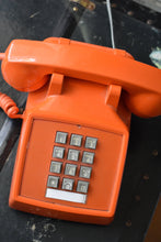 Load image into Gallery viewer, Orange Telephone - Working! - Made in Canada