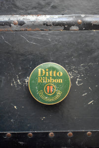 Ditto Typewriter Ribbon Tin - Made in England - Vintage Ink Spool Container