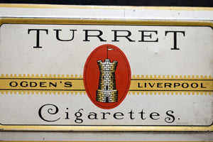 Ogden's Turret Cigarette Tin - VINTAGE TOBACCO - Vintage Smoking Advertising - Liverpool, England - Imperial Tobacco Co. - Canada