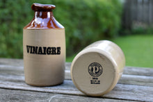 "Load image into Gallery viewer, Pearsons Oil and Vinegar Crocks - Made in England - ""Huile et Vinaigre"""