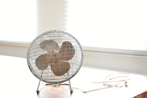 Caged Fan - Silver & Copper