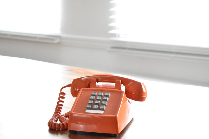 Orange Telephone - Working! - Made in Canada