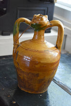 Load image into Gallery viewer, Antique Handmade Ceramic Jug with Wooden Stopper