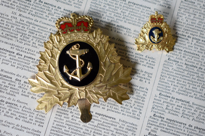Royal Canadian Navy Canadian Military Badge and Pin - Vintage Breadner Pins - 1980s