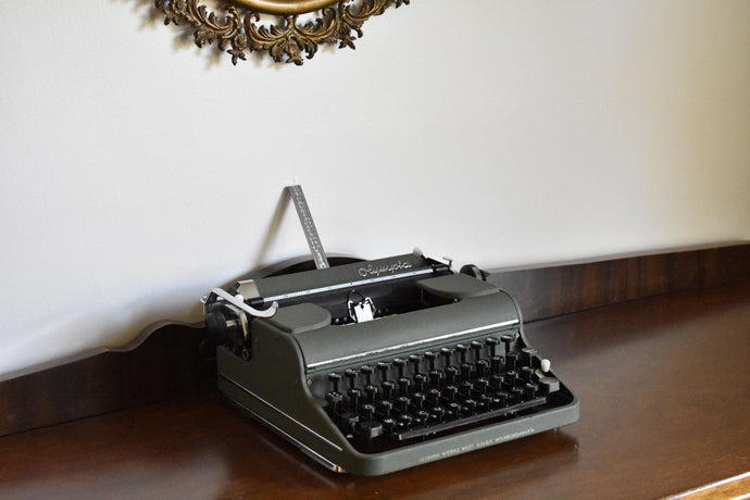 Olympia Manual Typewriter - Working Typewriter - 100% Functional - Comes with Fresh Ribbon and Original Case