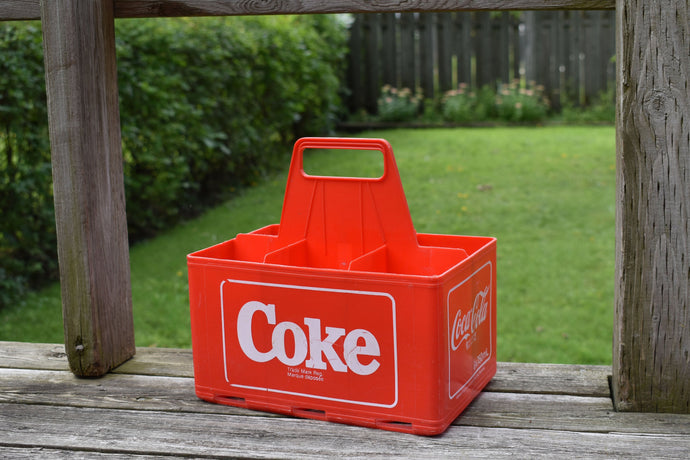 Coca-Cola Case - 1970s - Red Plastic - COKE CRATE - Advertising Collectible - Montreal, Quebec, Canada - Lot 5