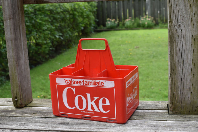 Coca-Cola Case - 1970s - Red Plastic - COKE CRATE - Advertising Collectible - Montreal, Quebec, Canada - Lot 1