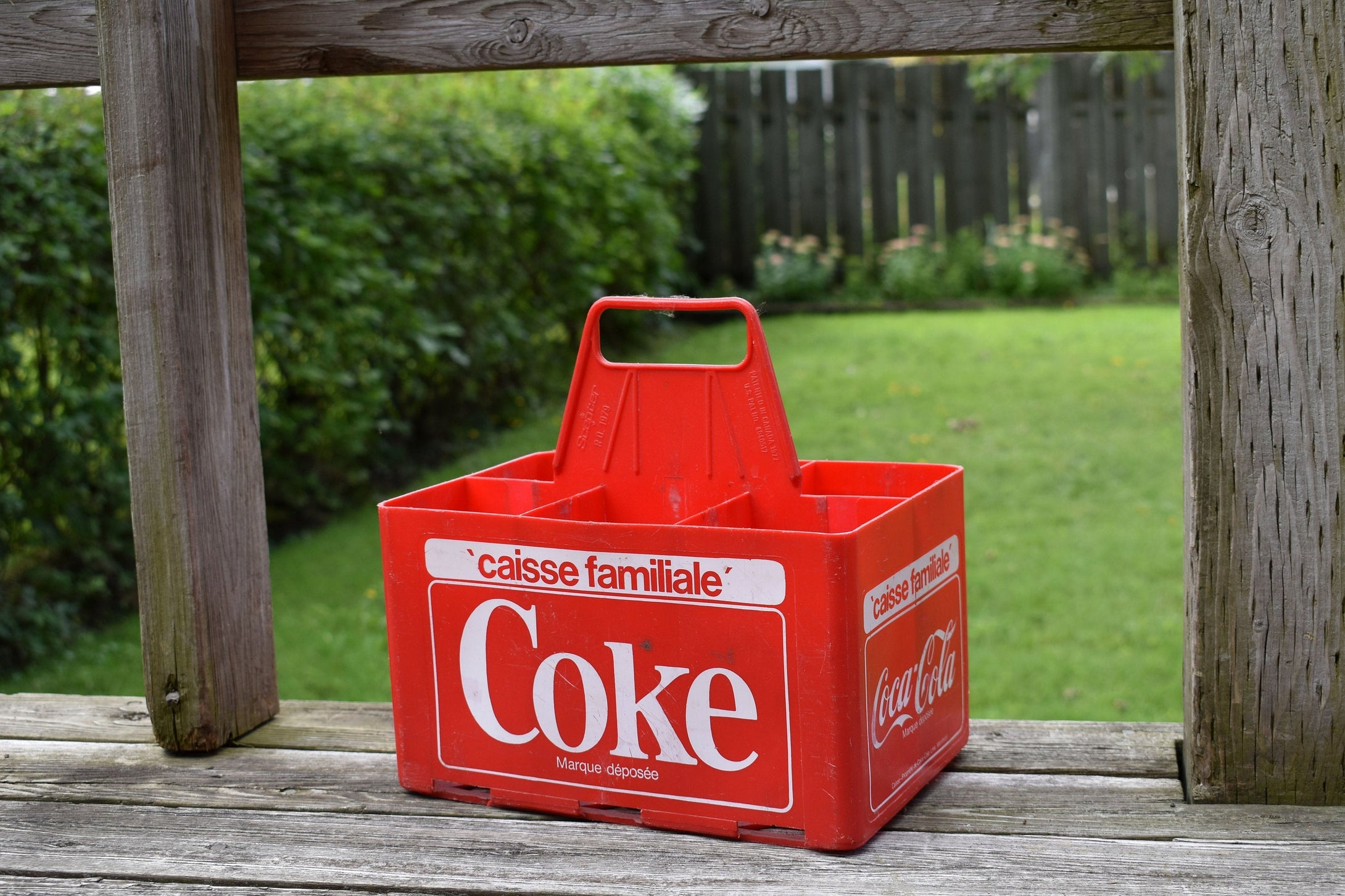 Coca-Cola Case - 1970s - Red Plastic - COKE CRATE - Advertising Collectible - Montreal, Quebec, Canada - Lot 4