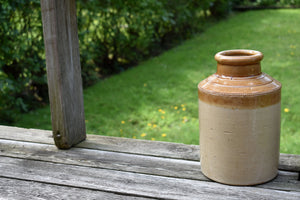 Stiff & Lambeth Clay Crock - Antique English Jug - Vintage Oyster Jar - Cream Color