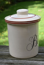 Load image into Gallery viewer, Vintage Cookie Jar - Biscuits - Made in England - T.G. Green - Ascot White Cookware - Sienna