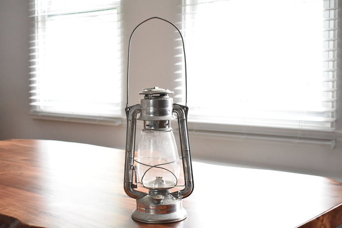 Silver Meva Lantern - Meva No. 865 - Made in Czechoslovakia - Kerosene Lamp