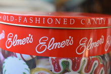 Load image into Gallery viewer, Elmers Old Fashion Candy Mix Tin - Antique Candy Storage Box - Grandma's Candy Jar