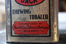 Load image into Gallery viewer, Black Jack Chewing Tobacco Tin - Antique Tobacco Tin - Rock City Tobacco Co. - Montreal, Quebec, Canada