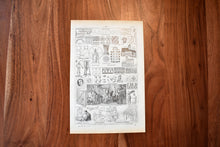 "Load image into Gallery viewer, Antique Design Lithograph - 11""x7.25"" - 1920s Larousse - Printed in Paris, France - Universal Print"
