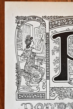 "Load image into Gallery viewer, Antique Letter P Lithograph - 11""x7.25"" - 1920s Larousse - Printed in Paris, France - Universal Print - Letters of the Alphabet"