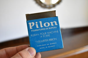 Pilon French Typewriter Ribbon Box - Vintage Ink Spool Container - Typewriter Ribbon - Metal Spool - Vintage Office Supply - Made in Quebec