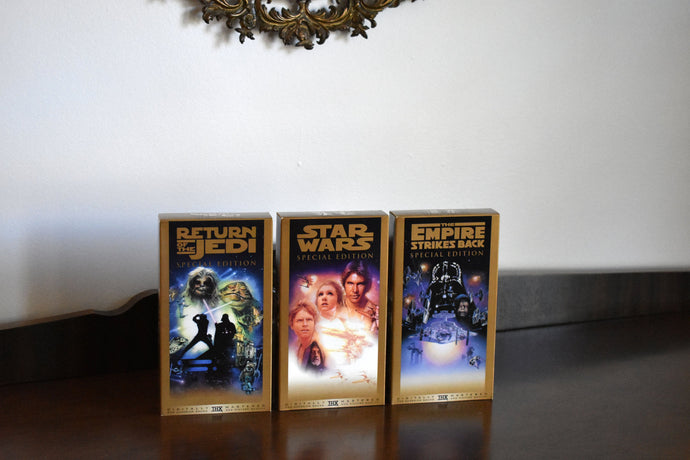 Vintage Star Wars VHS Tape Collection