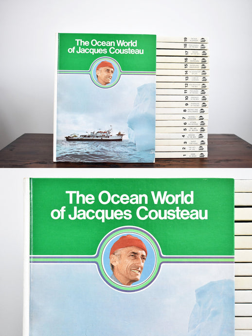 The Ocean World of Jacques Cousteau Books - Set of 20 English Books - Coffee Table Books - The Danbury Press - Printed in the USA - 1975