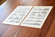 "Load image into Gallery viewer, Antique Boat and Ship Lithographs - 11.5""x7.25"" - Set of 2 Prints - 1920s Larousse - French Lithograph - Printed in Paris, France"