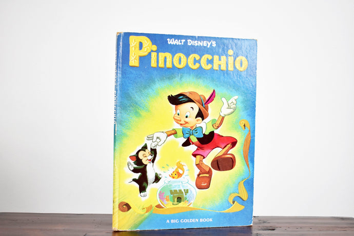 Walt Disney's Pinocchio - Hardcover Book - A Big Golden Book - Printed in the USA - 1970s