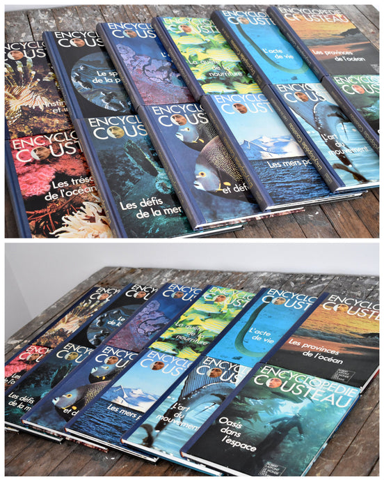 Encyclopedie Cousteau Book Collection - Set of 12 French Books - Coffee Table Books - Robert Laffont - Printed in Spain - 1973 - L2