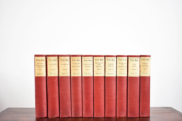The Works of Victor Hugo Book Collection - Volumes 1-10 - The Jefferson Press