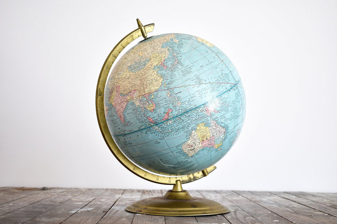 George F. Cram Imperial World Globe - English Language Globe - 12inch Diameter - Made in the USA