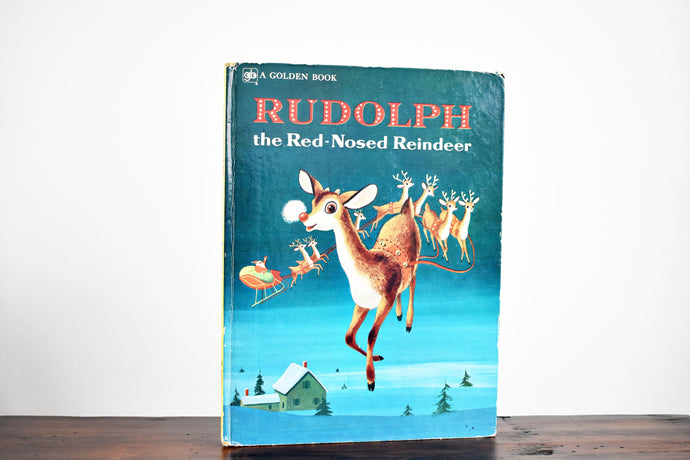 Walt Disney's Rudolph the Red Nosed Reindeer - Hardcover Book - A Big Golden Book - Printed in the USA - 1970s