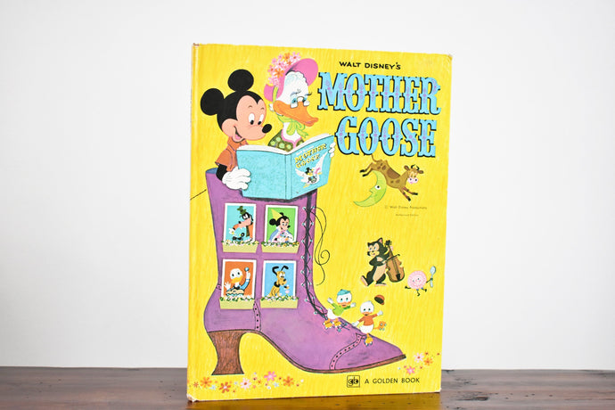 Walt Disney's Mother Goose - Hardcover Book - A Big Golden Book - Printed in the USA - 1970s