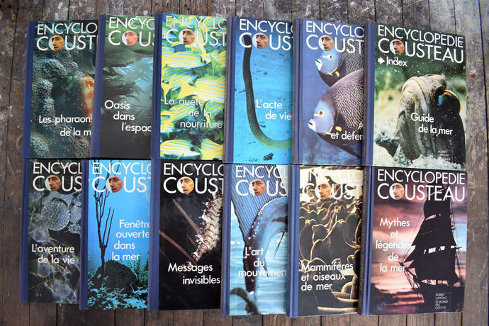 Encyclopedie Cousteau Book Collection - Set of 12 French Books - Coffee Table Books - Robert Laffont - Printed in Spain - 1973 - L1