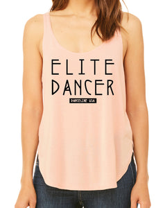 Peach Elite Side Slit Tank