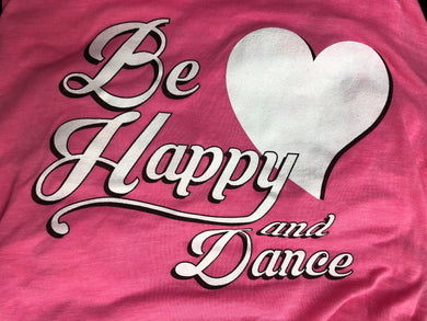 Be Happy Pink Tank Top