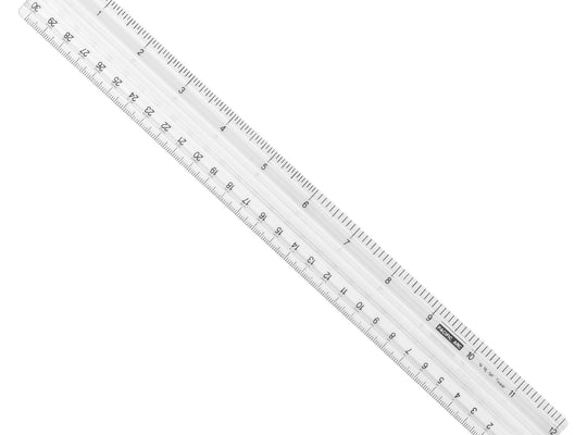 "12"" Plastic Easy Grip Ruler Pacific Arc Acrylic RL-541"