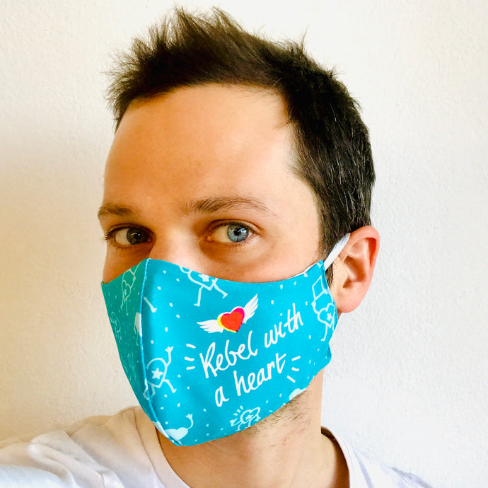 Masker Rebel with a heart