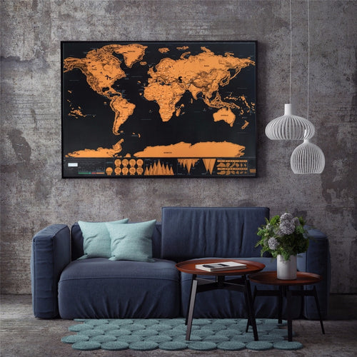 DELUX - Large World Map