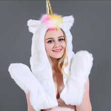 Load image into Gallery viewer, MAGIK - LED Unicorn Faux Fur Hat