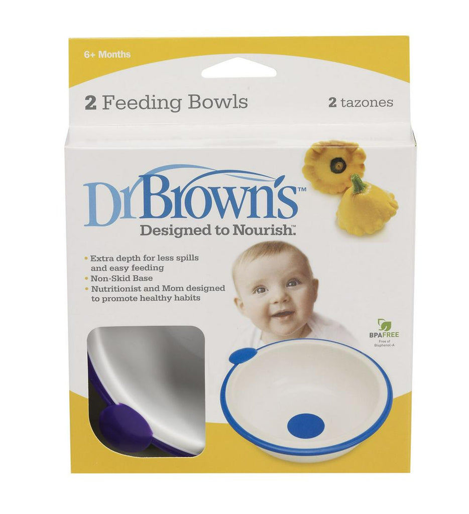 Dr. Brown's Designed to Nourish - Baby Feeding Bowls - 2 Pack Colors May Vary