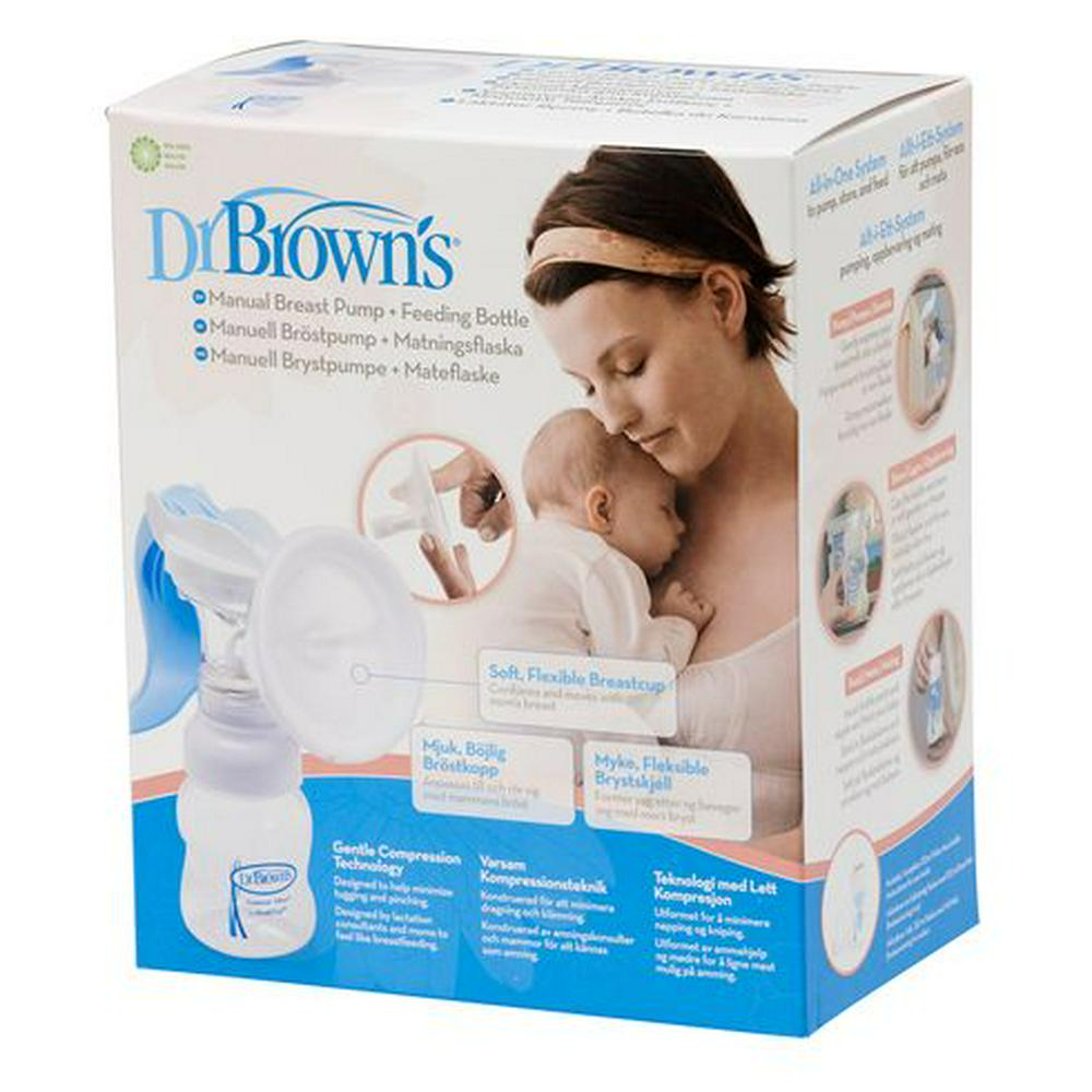 Dr. Brown's Manual Breast Pump with Wide Neck Feeding Bottle Default Title