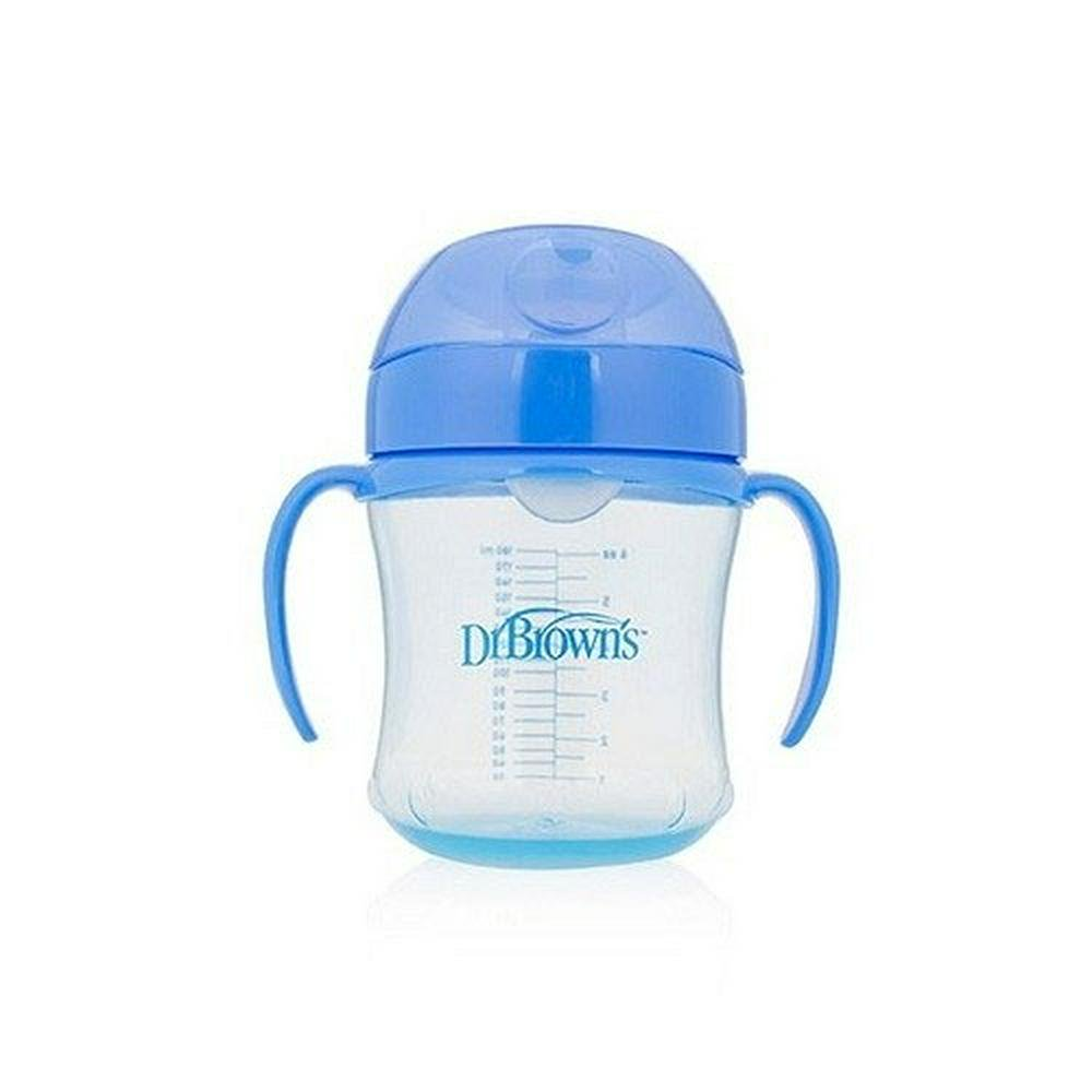 Dr. Brown's Soft Spout Transition Cup With Handles 180mL Blue