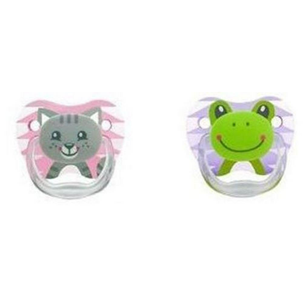 Dr. Brown's PreVent Printed Shield Pacifier Stage 1 - 2 Pack Girl