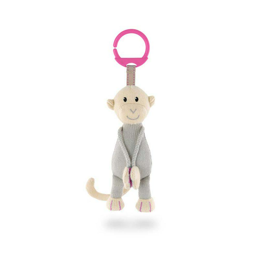 Matchstick Monkey Knitted Hanging Monkey Toy Pink