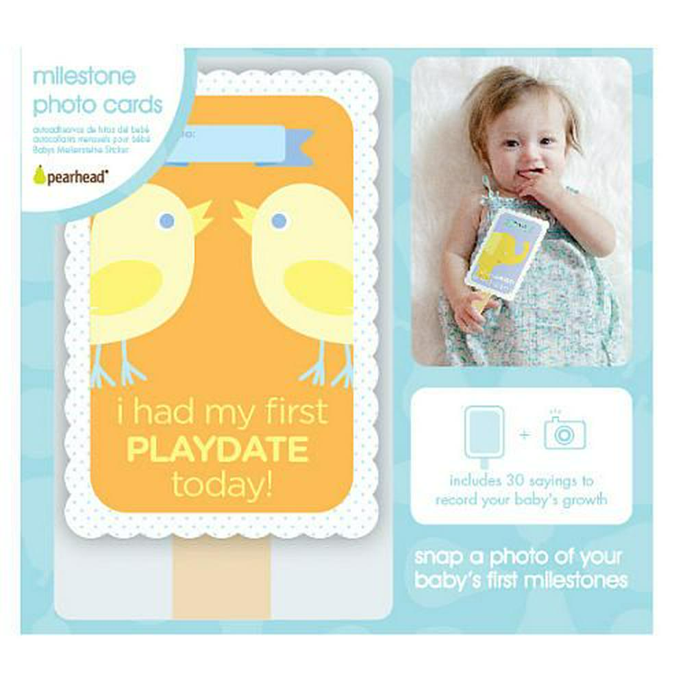 Pearhead Baby's Milestone Photo Cards - 30 Piece Default Title